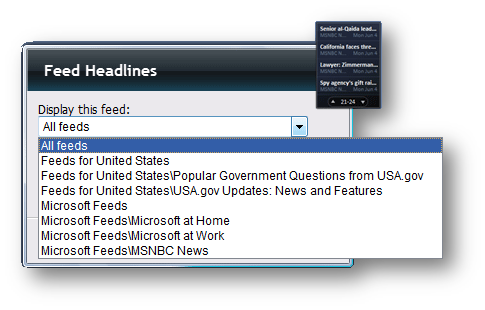 Display Feed Headlines