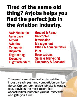 Add Your Name to receive Our Weekly Aviation Employment Newsletter