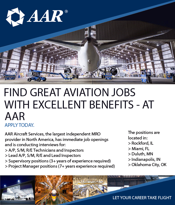 FIND GREAT AVIATION JOBS–WITH EXCELLENT BENEFITS–AT AAR