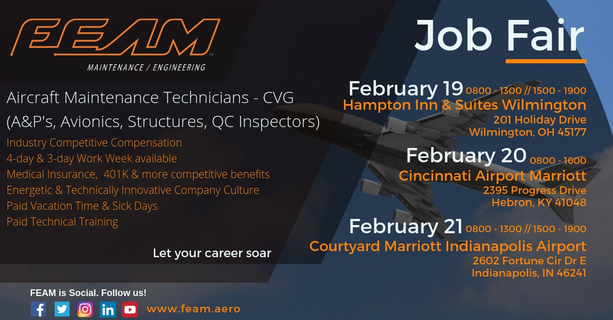 FEAM Job Fair Feb 19, 20, 21