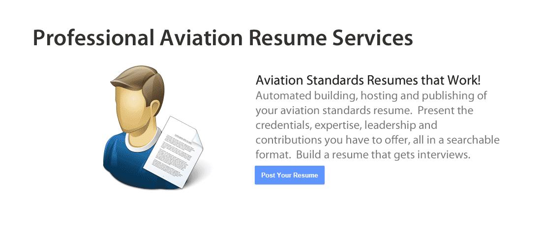 aviation resume building  u0026 hosting service