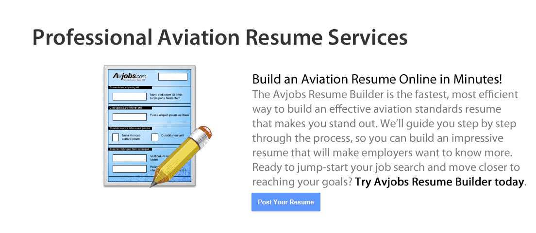 Build an Aviation Resume in Minutes